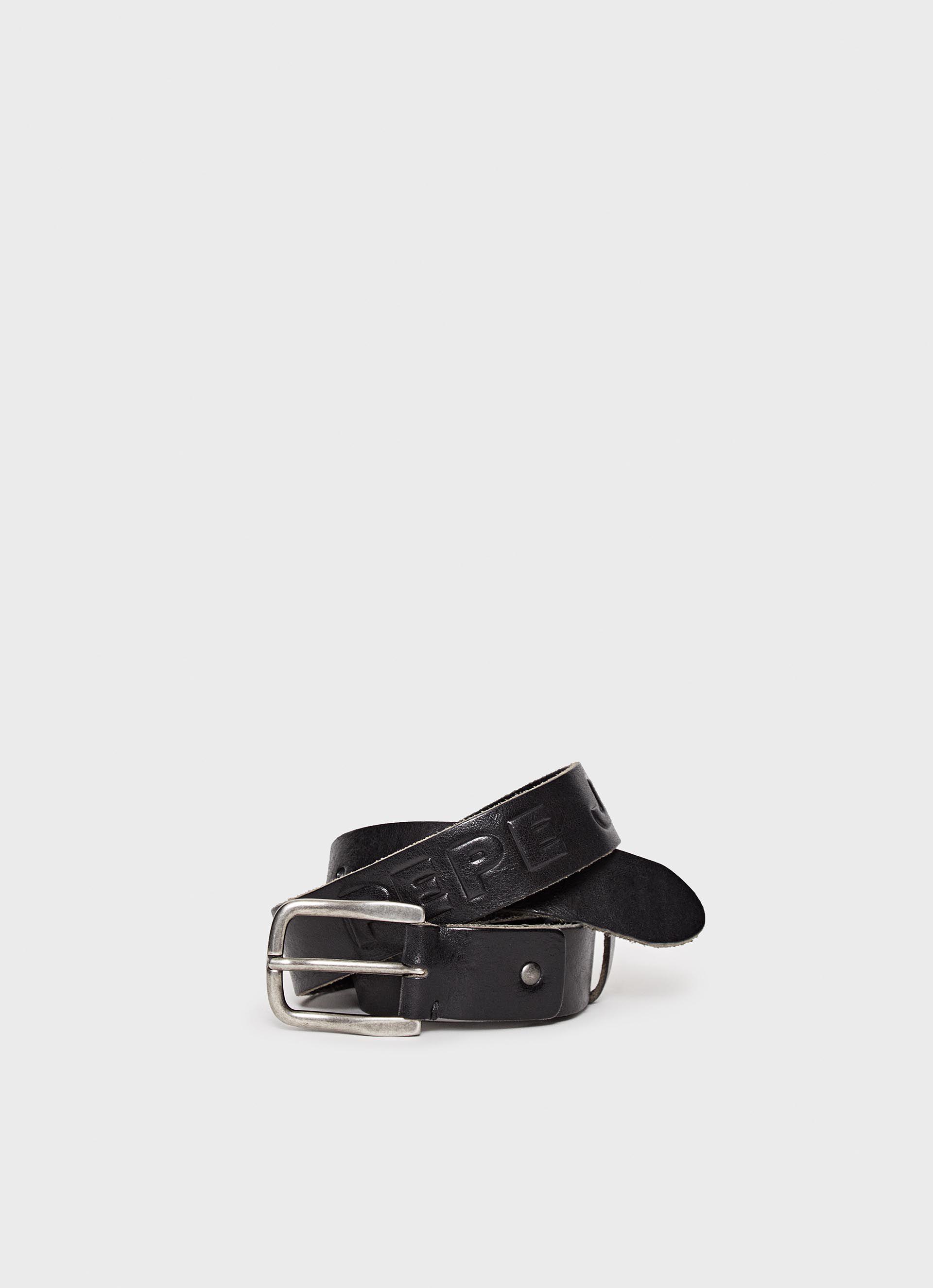 Fino Haworth De Black Large Piel Cinturón PA7CqwYxA