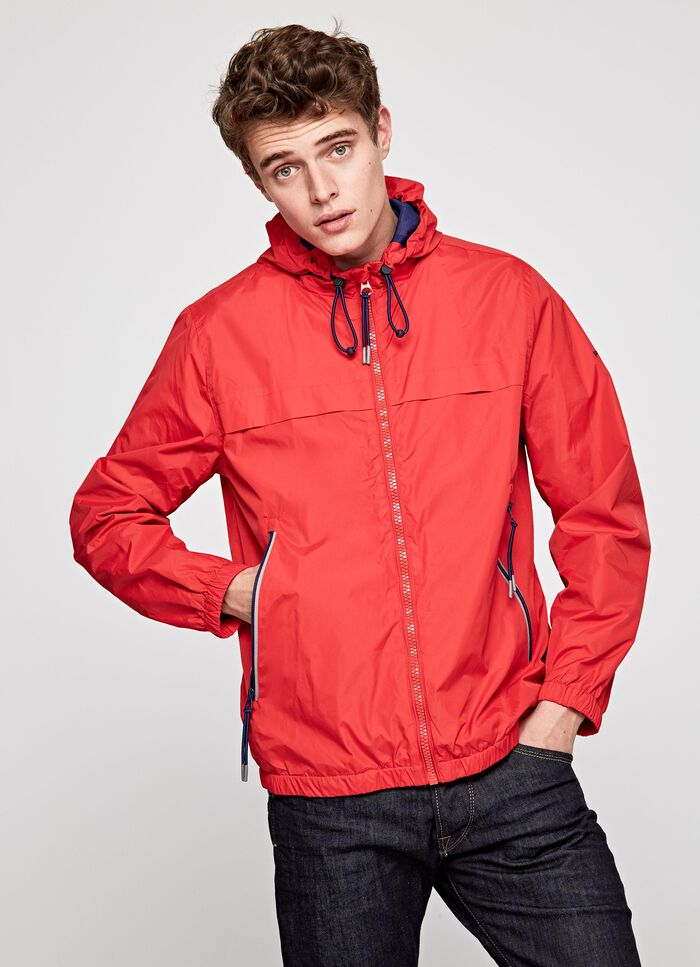 c4abf9fc6d0c BALOS HOODED WINDBREACKER, FRANCOIS RED, large