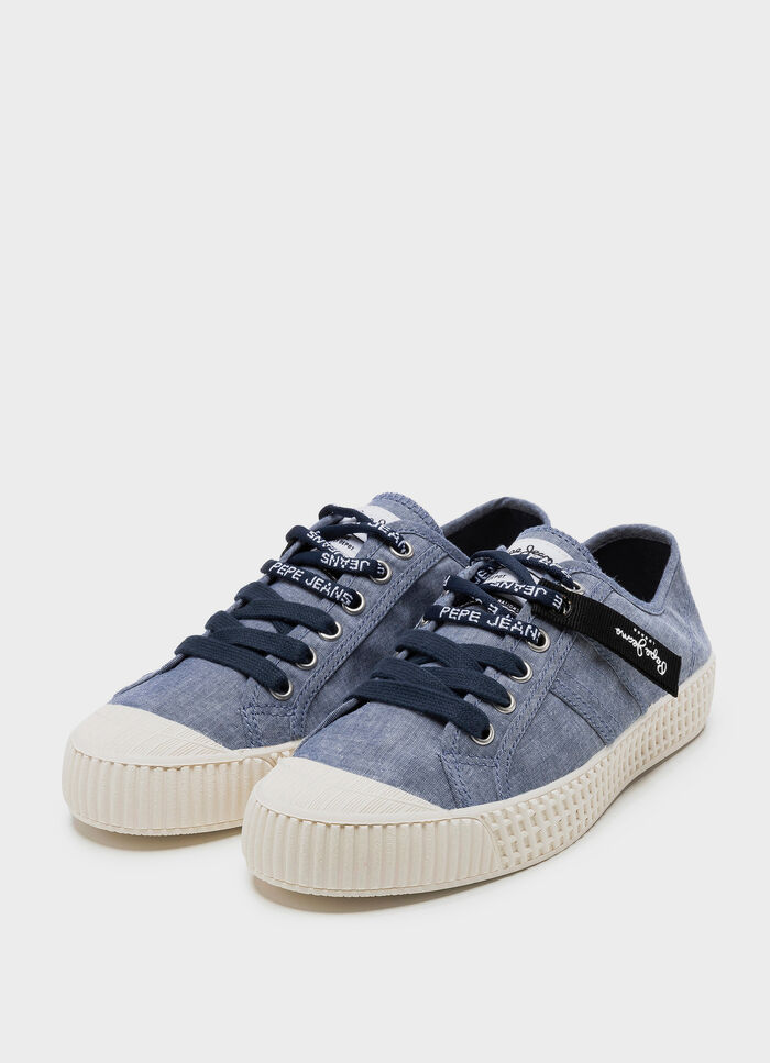 ae42a03fe765 CANVAS SNEAKERS IN-G CHAMBRAY WOMAN