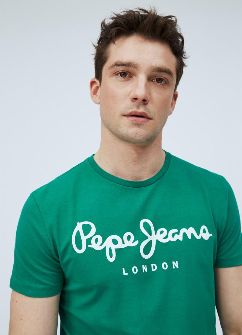 Original Stretch Logo T Shirt Pepejeans