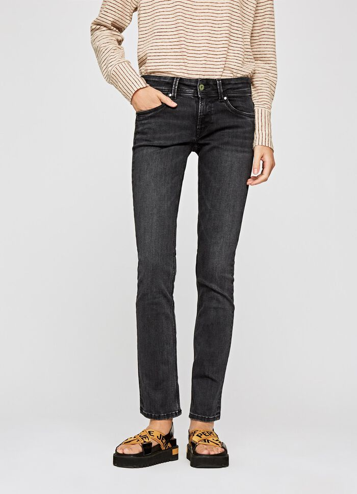 SATURN STRAIGHT FIT MID WAIST JEANS, IM, large f2a8d5a214