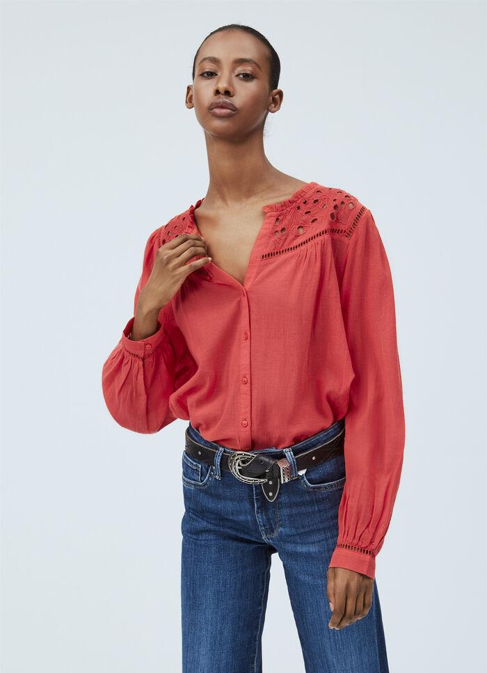 Bluse Damen Allover-Blumenprint leger mehrfarbig NEU Pepe Jeans London 79 €