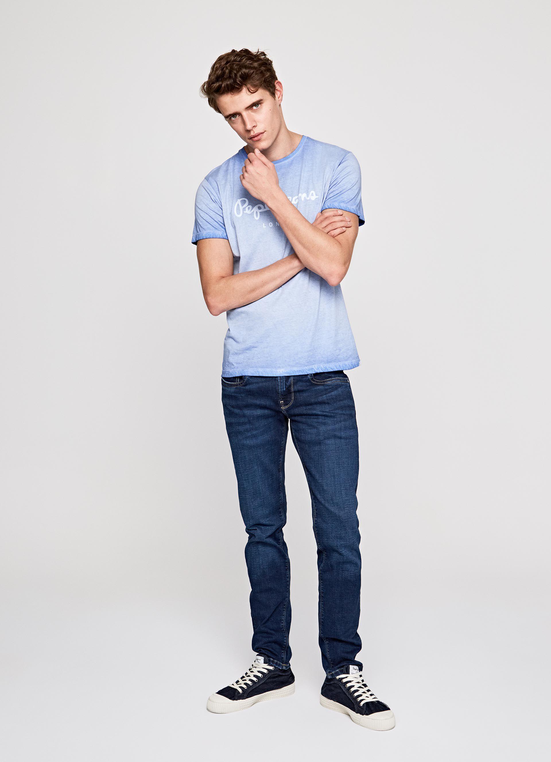 Fit Slim JeansHerren Waist Hatch Low 6g7fYby
