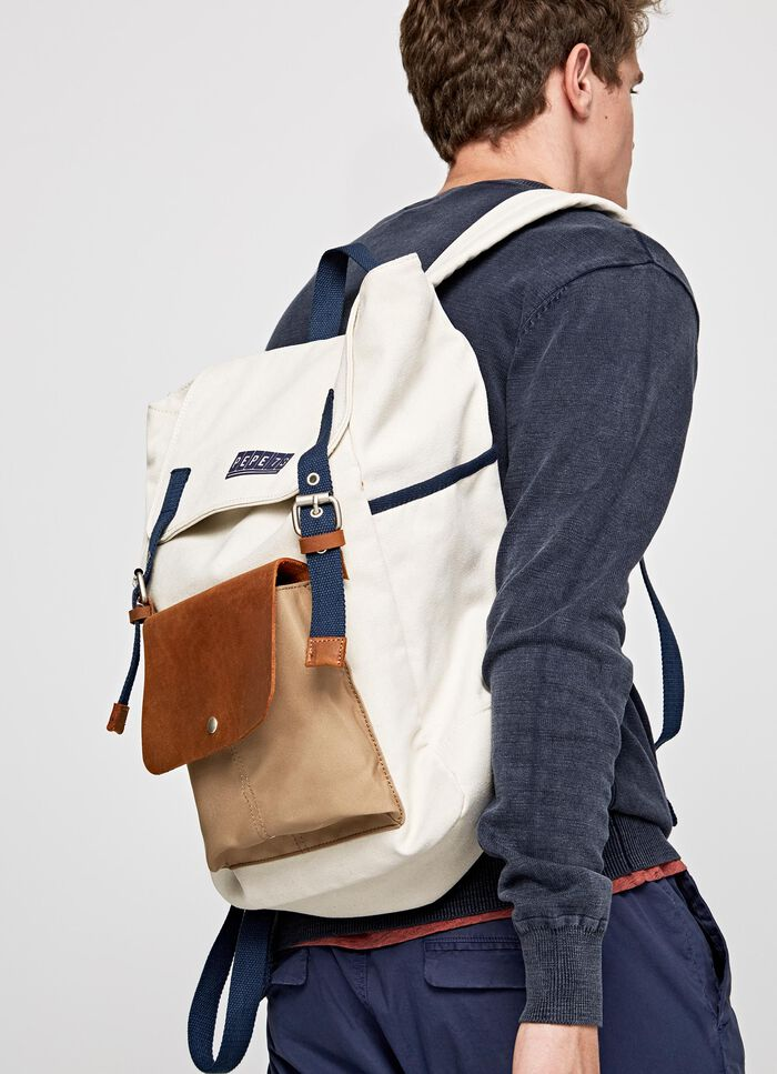 ca015e720062 GOTLAND MIX TEXTURED CANVAS BACKPACK