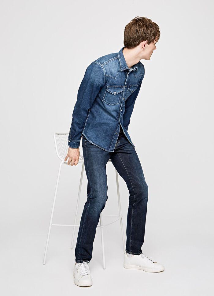 751f63f8a1e3 JEANS CANE STRAIGHT FIT LOW WAIST, IM, large