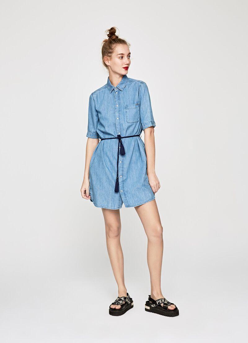 81fabbc93be EVELYN DENIM SHIRT DRESS