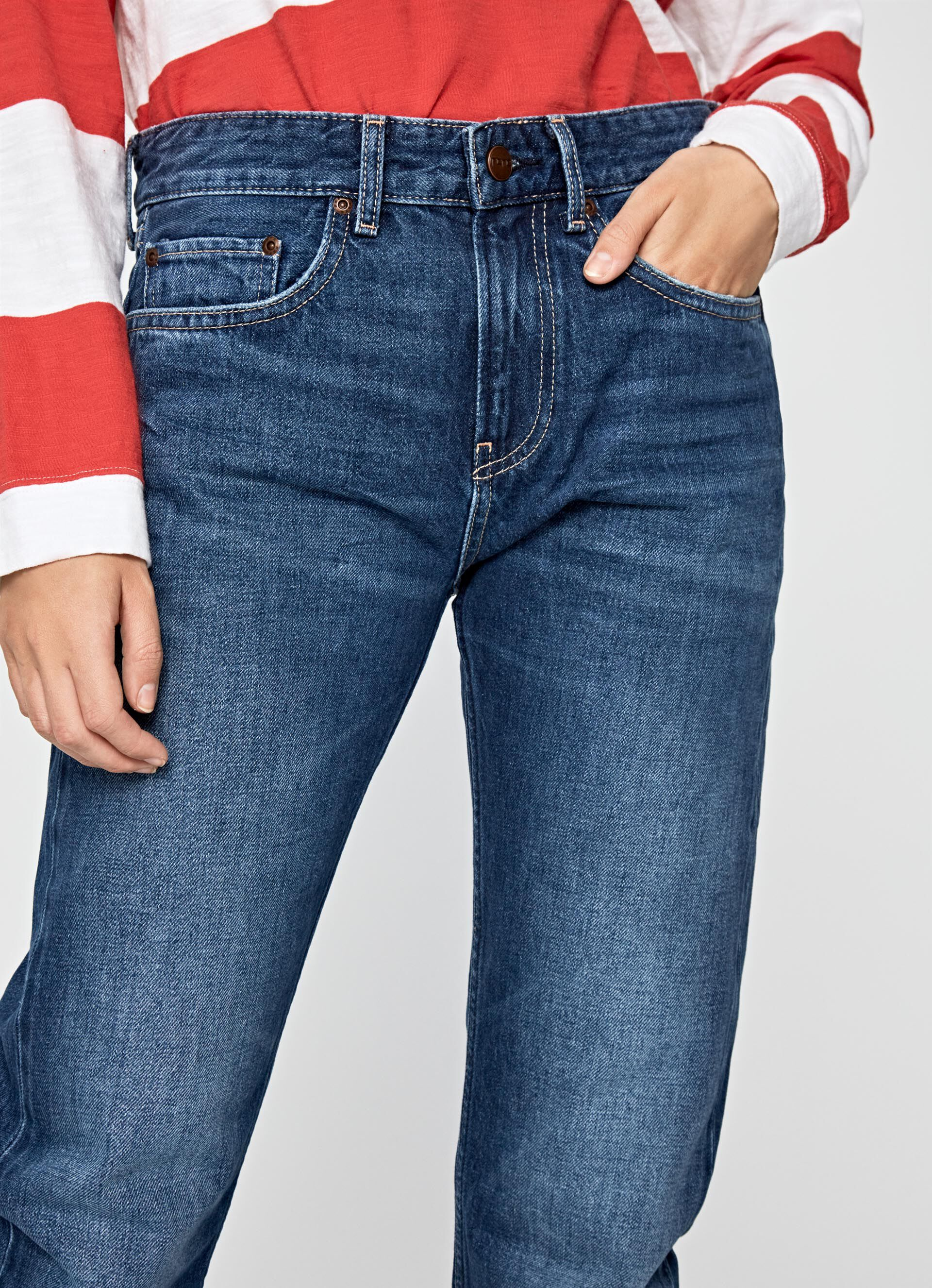 MABLE STRAIGHT FIT MID WAIST JEANS