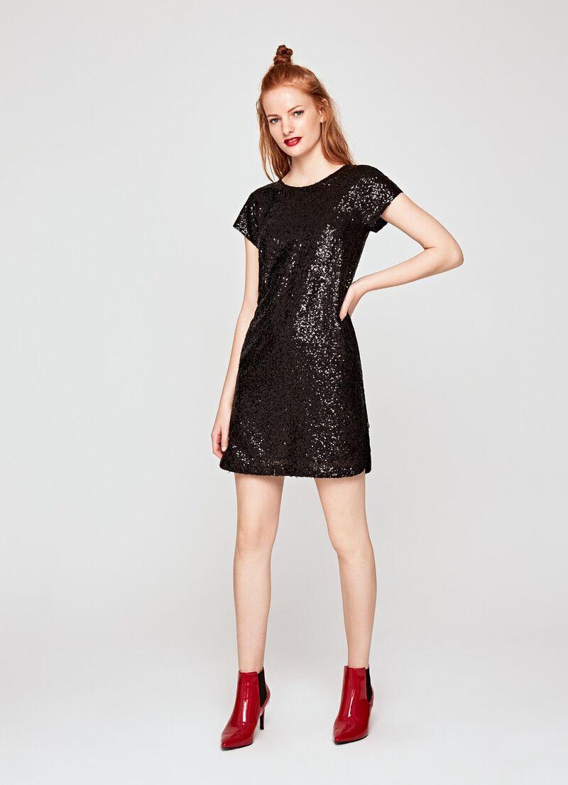 Pailletten Kleid Damen