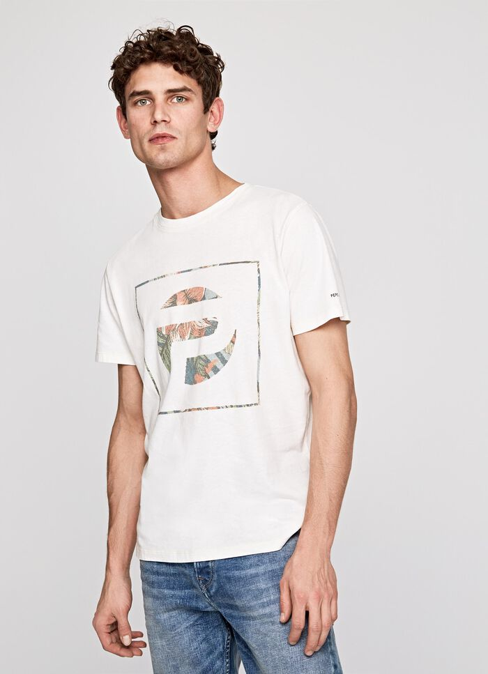8473a150a EALING PRINTED LOGO T-SHIRT, CANVAS WHITE, large