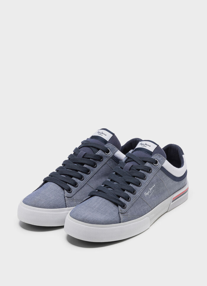 c4139560db07e VULCANIZED SNEAKERS NORTH COURT CHAMBRAY, CHAMBRAY, large