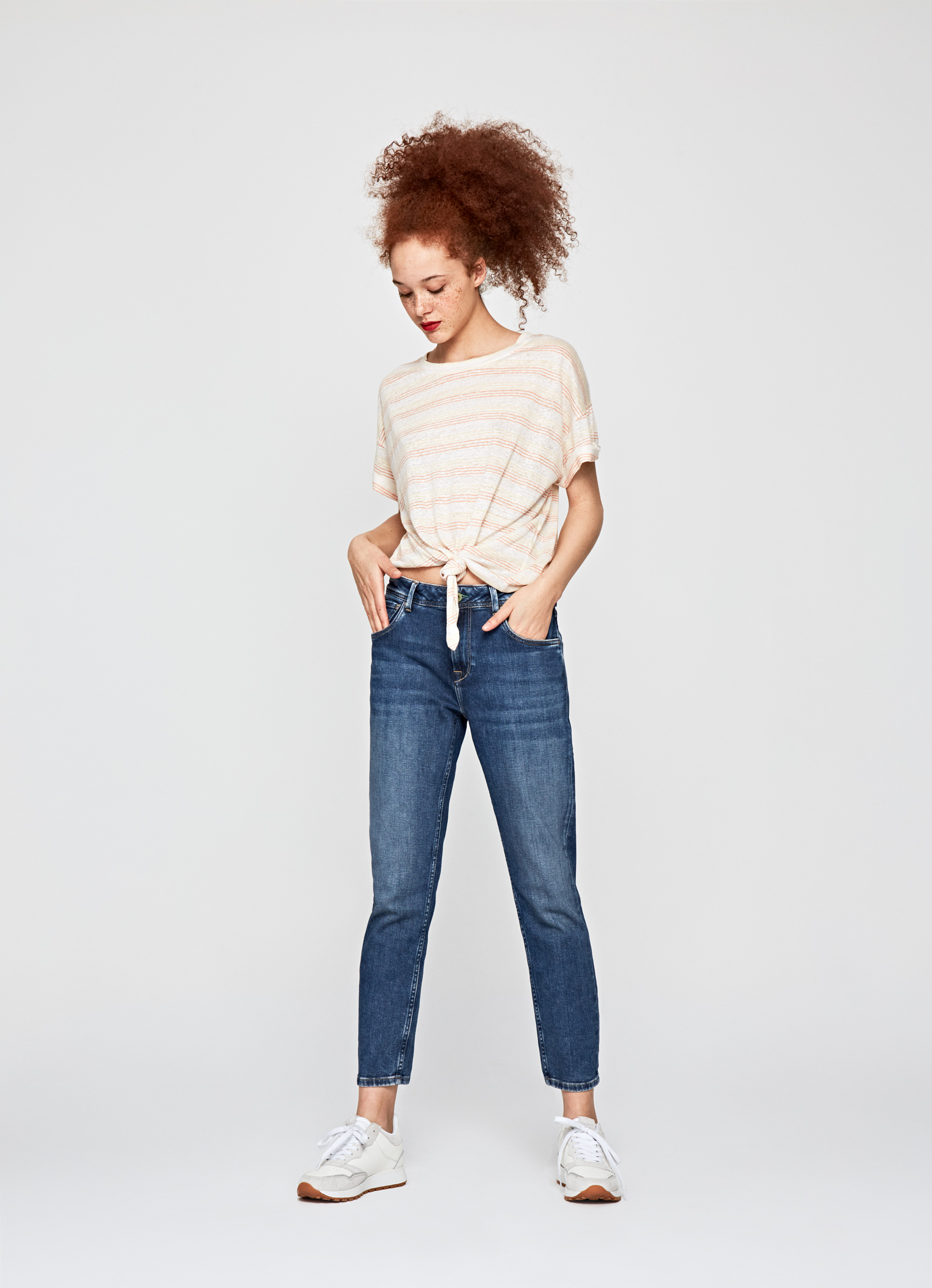 Violet Mom Carrot Fit High Waist Jeans Pepejeans
